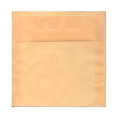 JAM Paper® 8.5 x 8.5 Square Envelopes, Spring Ochre Ivory Translucent Vellum, 100/Pack (PACV530g)