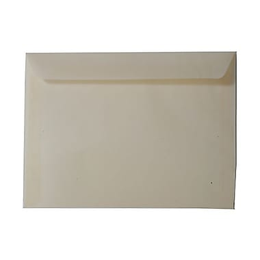 JAM Paper® 9in. x 12in. Translucent Vellum Booklet Envelopes, Spring Ochre Ivory, 25/Pack