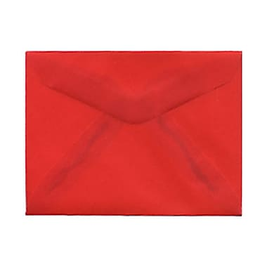 JAM Paper® 3drug Mini Small Envelopes, 2 5/16 x 3.63, Red Translucent Vellum, 1000/Pack (1591589B)