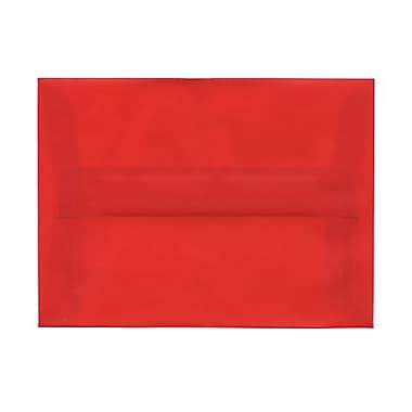 JAM Paper® A6 Invitation Envelopes, 4.75 x 6.5, Red Translucent Vellum, 100/Pack (PACV655g)
