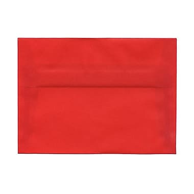 JAM Paper® A7 Invitation Envelopes, 5.25 x 7.25, Red Translucent Vellum, 1000/Pack (PACV705B)