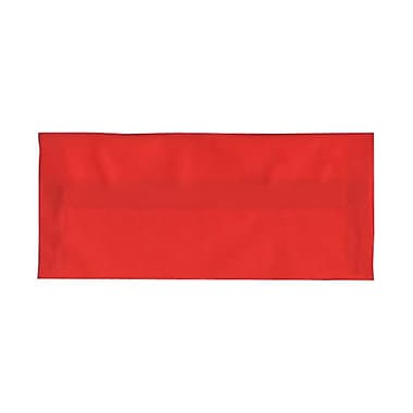 JAM Paper® #10 Business Envelopes, 4 1/8 x 9.5, Red Translucent Vellum, 1000/Pack (PACV355B)