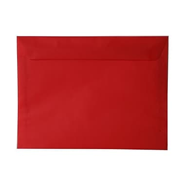 JAM Paper® 9 x 12 Booklet Envelopes, Translucent Vellum Red, 100/Pack (1592187g)
