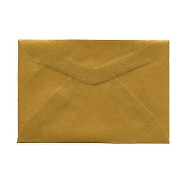 JAM PaperMD – Enveloppes livret en vélin translucide avec fermeture gommée, 2 5/16 x 3 5/8 po, doré, 1000/pqt
