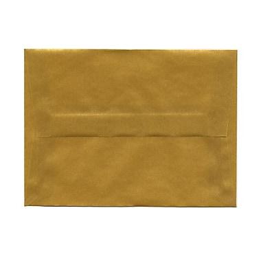 JAM PaperMD – Enveloppes à brochure à fermeture gommée, papier vélin translucide, 4-3/4 x 6-1/2 po, doré
