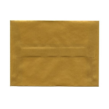 JAM Paper® A6 Invitation Envelopes, 4.75 x 6.5, Gold Translucent Vellum, 100/Pack (PACV667g)