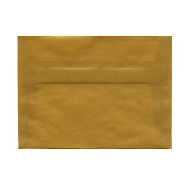 JAM Paper® A7 Invitation Envelopes, 5.25 x 7.25, Gold Translucent Vellum, 1000/Pack (PACV717B)
