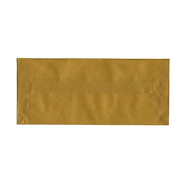 JAM Paper® #10 Business Envelopes, 4 1/8 x 9.5, Gold Translucent Vellum, 100/Pack (PACV367g)