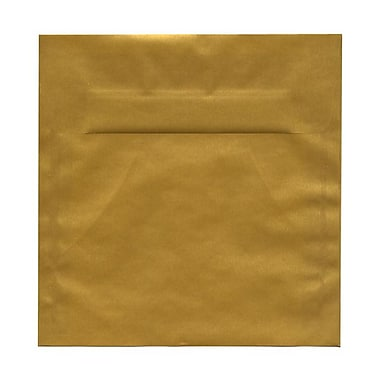 JAM Paper® 8.5 x 8.5 Square Envelopes, Gold Translucent Vellum, 100/Pack (PACV597g)
