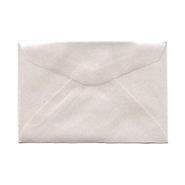 JAM PaperMD – Enveloppes livret en vélin translucide avec fermeture gommée, 2 5/16 x 3 5/8 po, platine argenté, 1000/pqt