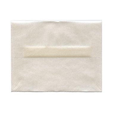 JAM Paper® A2 Invitation Envelopes, 4.38 x 5.75, Platinum Translucent Vellum, 1000/Pack (PACV616B)