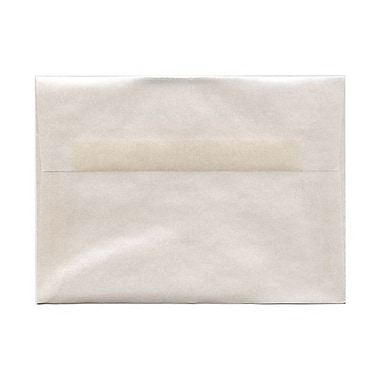 JAM Paper® A7 Invitation Envelopes, 5.25 x 7.25, Platinum Translucent Vellum, 100/Pack (PACV716g)
