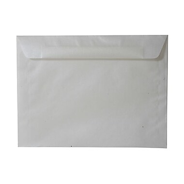 JAM Paper® 9in. x 12in. Translucent Vellum Booklet Envelopes, Platinum Silver, 25/Pack