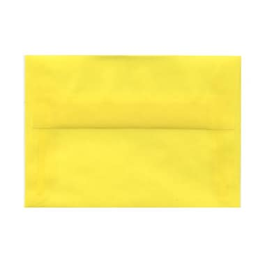 JAM Paper® 4bar A1 Envelopes, 3.63 x 5 1/8, Yellow Translucent Vellum, 100/Pack (1591616g)