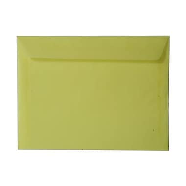 JAM Paper® 9in. x 12in. Translucent Vellum Booklet Envelopes, Primary Yellow, 1000/Pack