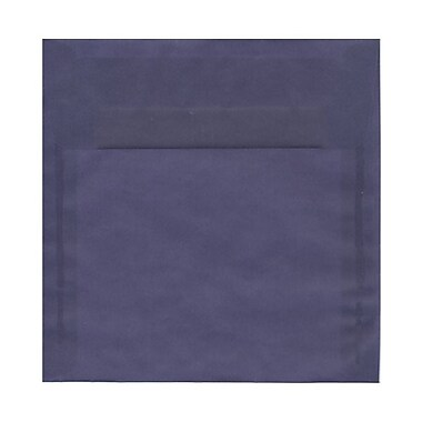 JAM Paper® 8.5 x 8.5 Square Envelopes, Wisteria Purple Translucent Vellum, 1000/Pack (1592157B)