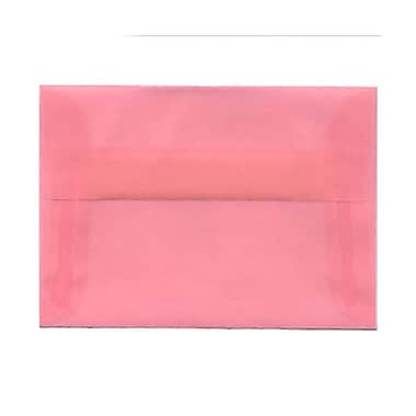 JAM Paper® 4bar A1 Envelopes, 3.63 x 5 1/8, Blush Pink Translucent Vellum, 1000/Pack (1591615B)