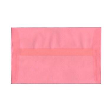 JAM Paper® A10 Invitation Envelopes, 6 x 9.5, Translucent Vellum Blush Pink, 100/Pack (PACV868g)
