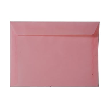 JAM Paper® 9 x 12 Booklet Envelopes, Translucent Vellum Blush Pink, 25/Pack (1592182)