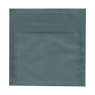 JAM Paper® 6 x 6 Square Envelopes, Ocean Blue Translucent Vellum, 25/pack (PACV512)