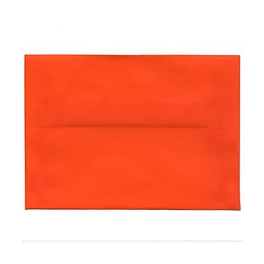 JAM Paper® 4bar A1 Envelopes, 3.63 x 5 1/8, Orange Translucent Vellum, 100/Pack (1591617g)