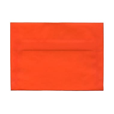 JAM Paper® A7 Invitation Envelopes, 5.25 x 7.25, Orange Translucent Vellum, 100/Pack (PACV719g)