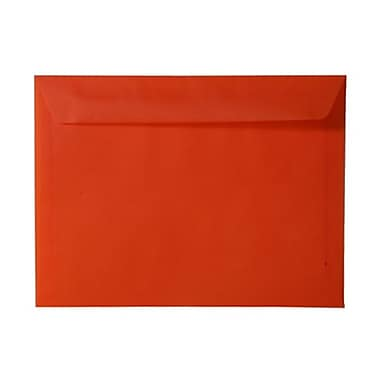 JAM Paper® 9in. x 12in. Translucent Vellum Booklet Envelopes, Orange, 25/Pack