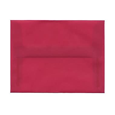 JAM Paper® A2 Invitation Envelopes, 4.38 x 5.75, Magenta Pink Translucent Vellum, 1000/Pack (1591626B)