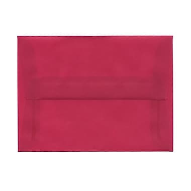 JAM Paper® A6 Invitation Envelopes, 4.75 x 6.5, Magenta Pink Translucent Vellum, 100/Pack (1591681g)