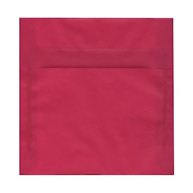 JAM Paper® 8.5 x 8.5 Square Envelopes, Magenta Pink Translucent Vellum, 100/Pack (1592151g)