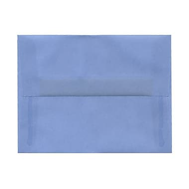 JAM Paper® A2 Invitation Envelopes, 4.38 x 5.75, Surf Blue Translucent Vellum, 100/Pack (1591647g)