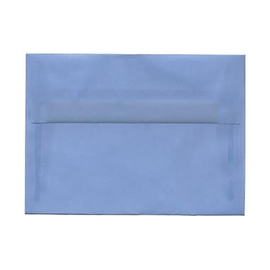 JAM Paper® A10 Invitation Envelopes, 6 x 9.5, Surf Blue Translucent Vellum, 100/Pack (1591792g)
