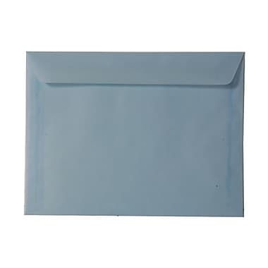 JAM Paper® 9in. x 12in. Translucent Vellum Booklet Envelopes, Surf Baby Blue, 25/Pack