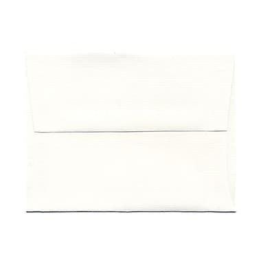 JAM Paper® A2 Invitation Envelopes, 4.38 x 5.75, Strathmore Bright White Laid, 100/Pack (99118g)