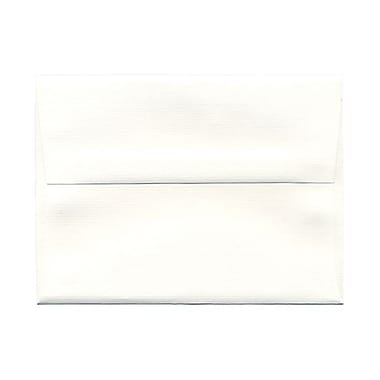 JAM Paper® A6 Invitation Envelopes, 4.75 x 6.5, Strathmore Bright White Pinstripe, 1000/Pack (43419B)