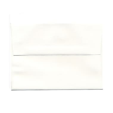JAM Paper® A7 Invitation Envelopes, 5.25 x 7.25 Strathmore Bright White Pinstripe, 100/Pack (43420g)
