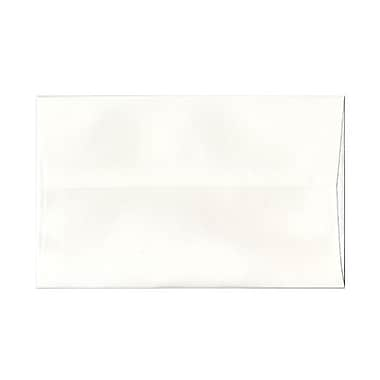 JAM Paper® A10 Invitation Envelopes, 6 x 9.5, Strathmore Bright White Pinstripe, 100/Pack (43424g)