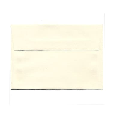 JAM Paper® 4bar A1 Envelopes, 3.63 x 5 1/8, Strathmore Natural White Laid, 1000/Pack (900913182B)