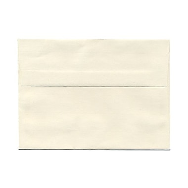 JAM Paper® A7 Invitation Envelopes, 5.25 x 7.25 Strathmore Natural White Laid, 100/Pack (STTL713g)