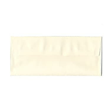 JAM Paper® 4 1/8in. x 9 1/2in. Booklet Strathmore Laid Envelopes w/Gum Closure, Natural White, 1000/Pack