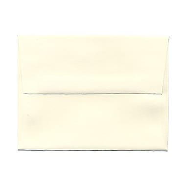 JAM Paper® A2 Invitation Envelopes, 4.38 x 5.75, Strathmore Natural White Linen, 100/Pack (99761g)