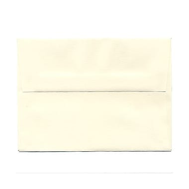 JAM Paper® A6 Invitation Envelopes, 4.75 x 6.5, Strathmore Natural White Linen, 100/Pack (74083g)