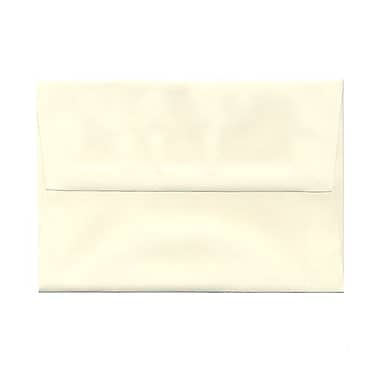 JAM Paper® A8 Invitation Envelopes, 5.5 x 8.125, Strathmore Natural White Linen, 100/Pack (59763g)