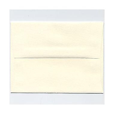 JAM PaperMD – Enveloppes à fines rayures, à rabat large, format livret à fermeture gommée, 4 3/8 x 5 3/4 po, blanc naturel