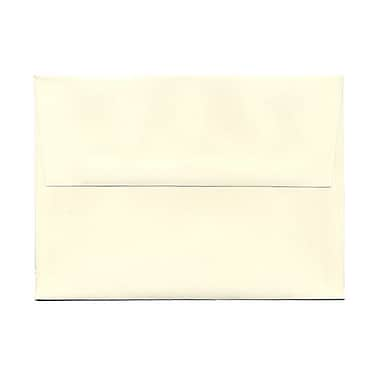 JAM Paper® A7 Invitation Envelopes, 5.25 x 7.25, Strathmore Natural White Pinstripe, 100/Pack (43437g)
