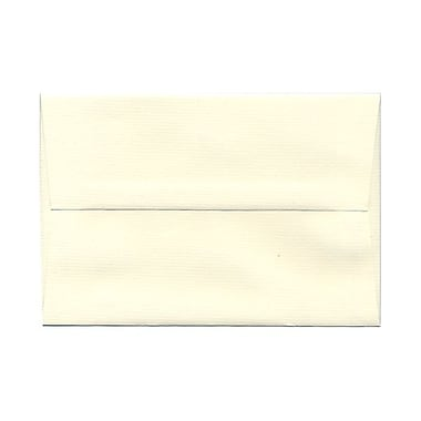 JAM Paper® A8 Invitation Envelopes, 5.5 x 8.125 Strathmore Natural White Pinstripe, 100/Pack (191213g)