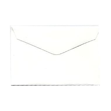 JAM Paper® 3drug Mini Small Envelopes, 2 5/16 x 3.63, Strathmore Bright White Wove, 1000/Pack (900967818B)