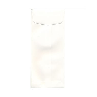 JAM Paper® 4 1/8in. x 9 1/2in. Open End / Policy Strathmore Envelopes w/Gum Closure, Bright White, 1000/Pack