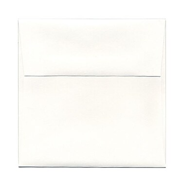 JAM Paper® 5.25 x 5.25 Square Envelopes, Strathmore Bright White Wove, 1000/Pack (193954B)