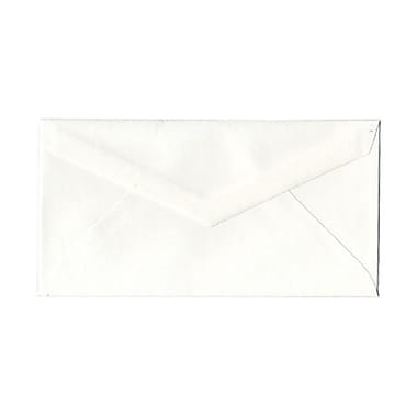 JAM Paper® Monarch Envelopes, 3.88 x 7.5, Strathmore Bright White Wove with V-Flap 1000/Pack (195201B)